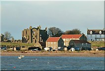 NU1241 : Lindisfarne Priory and Herring House by Alan Murray-Rust