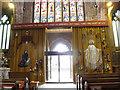 SJ6552 : St Mary, Nantwich: Jubilee curtain by Stephen Craven