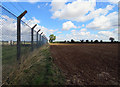SK9116 : Kendrew Barracks boundary fence by Andrew Tatlow