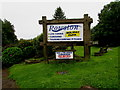 SN1202 : Rowston Holiday Park name sign, New Hedges, Pembrokeshire  by Jaggery