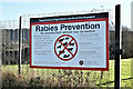 J3878 : Rabies notice, Belfast harbour estate (January 2017) by Albert Bridge