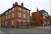 SK7954 : Junction of Wilson Street and Slaughter House Lane and The Clay Tavern by Roger Templeman