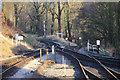SE0335 : Rails at Oxenhope by Des Blenkinsopp