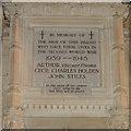 TL8279 : Second World War Memorial in Elveden church by Adrian S Pye