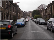 SE0511 : Brougham Road - looking towards Manchester Road by Betty Longbottom
