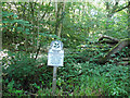 SX8088 : National Trust sign for Bridford Wood by Stephen Craven