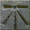NU1301 : Bench mark, St Mary's Church, Longframlington by Alan Murray-Rust