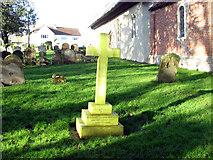 TM3395 : Thwaite St Mary's churchyard by Evelyn Simak