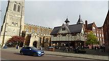 SP7387 : Market Harborough - St Dionysius Church & the Old Grammar School by Colin Park