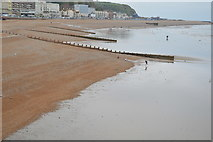 TQ8109 : Groynes on the beach by N Chadwick