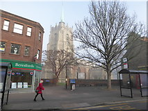 TL7006 : Chelmsford Cathedral: on a foggy December morning by Basher Eyre