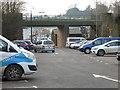 ST5615 : Bridge over former railway, Yeovil by Chris Allen