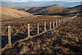 NN9202 : Fence on the north ridge of Skythorn Hill by Doug Lee
