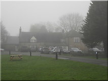 TF1505 : The Blue Bell, Glinton, on a foggy day by Paul Bryan