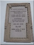 TQ2255 : St Peter, Walton-on-the Hill: memorial (b) by Basher Eyre