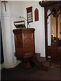 TQ2255 : St Peter, Walton-on-the Hill: pulpit by Basher Eyre