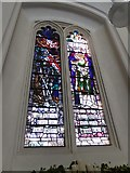 TQ2255 : St Peter, Walton-on-the Hill: stained glass window (II) by Basher Eyre