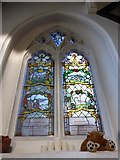 TQ2255 : St Peter, Walton-on-the Hill: stained glass window (IX) by Basher Eyre