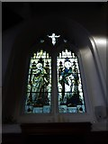 TQ2255 : St Peter, Walton-on-the Hill: stained glass window (XI) by Basher Eyre