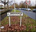 SO9669 : Bromsgrove twinning sign, Charford Road, Bromsgrove by Jaggery