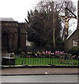 SO5012 : Calvary outside an Overmonnow church in Monmouth by Jaggery