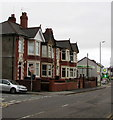 ST3087 : Row of four houses, Stow Hill, Newport by Jaggery