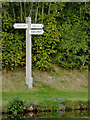 SJ3731 : Signpost at Frankton Junction in Shropshire by Roger  Kidd