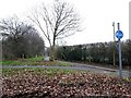 SZ1294 : Townsend: footpath K45 from Throop Road by Chris Downer