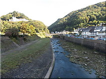 SS7249 : Upstream along the West Lyn River, Lynmouth by Jaggery