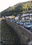 SS7249 : Riverside wall, Lynmouth by Jaggery