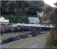 SS7249 : White footbridge over the West Lyn River, Lynmouth by Jaggery