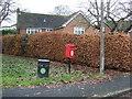 SJ5657 : Elizabeth II postbox on Bunbury Lane, Bunbury by JThomas