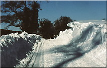 ST8081 : Station Road, Badminton, Gloucestershire 1982 by Ray Bird