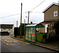 ST2295 : Clytha Square bus stop and shelter, Llanfach, Abercarn by Jaggery