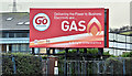 "J3772 : ""Go"" gas poster, Belfast (January 2017) by Albert Bridge"