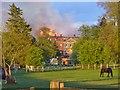 TQ0451 : Clandon Park Fire by Colin Smith