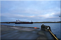 HU4741 : Milford Fisher leaving Lerwick harbour by Mike Pennington