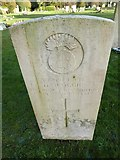 TQ3355 : Caterham Cemetery:CWGC grave (viii) by Basher Eyre