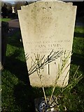 TQ3355 : Caterham Cemetery: memorial to a Catering Corps corporal by Basher Eyre