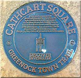 NS2776 : Cathcart Square (plaque) by Raibeart MacAoidh