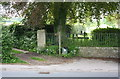 NZ1501 : Corner of cemetery at junction of A6108 and footpath by Roger Templeman