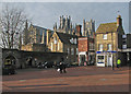 TL5480 : Ely: Market Place and Cathedral by John Sutton