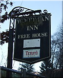 SD9726 : Sign for the former Woodman Inn by JThomas