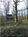 SO8060 : Signs at entrance to Monkwood Nature Reserve, near Monkwood Green, Worcs by P L Chadwick