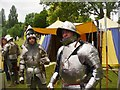 TQ0271 : Staines - Knights in Armour by Colin Smith