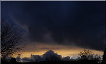 ST8180 : Evening Sky, Acton Turville, Gloucestershire 2014 by Ray Bird
