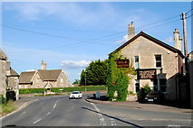 ST8080 : Fox & Hounds Pub Corner, Acton Turville, Gloucestershire 2014 by Ray Bird