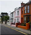 SN1300 : Colourful houses, Harding Street, Tenby by Jaggery