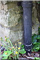 SP4824 : Benchmark behind downpipe on 'Woodside Cottage' by Roger Templeman