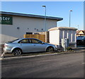 ST3486 : Electricity substation at the southern edge of Newport Retail Park  by Jaggery